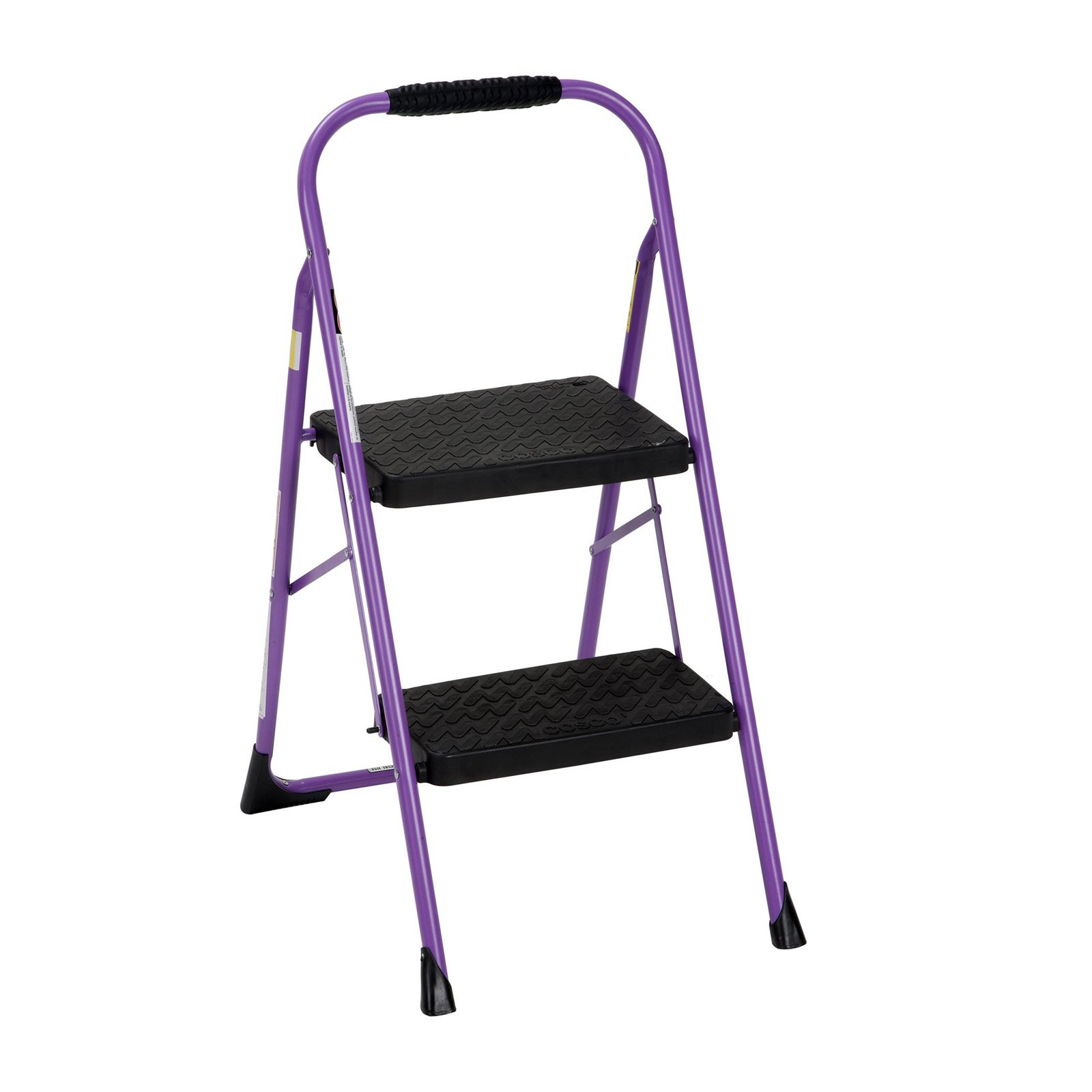 Cosco Two Step Big Step Folding Step Stool with Rubber Hand Grip by Cosco