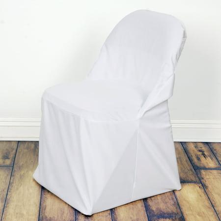 Balsacircle Stretch Scuba Folding Chair Cover Wedding