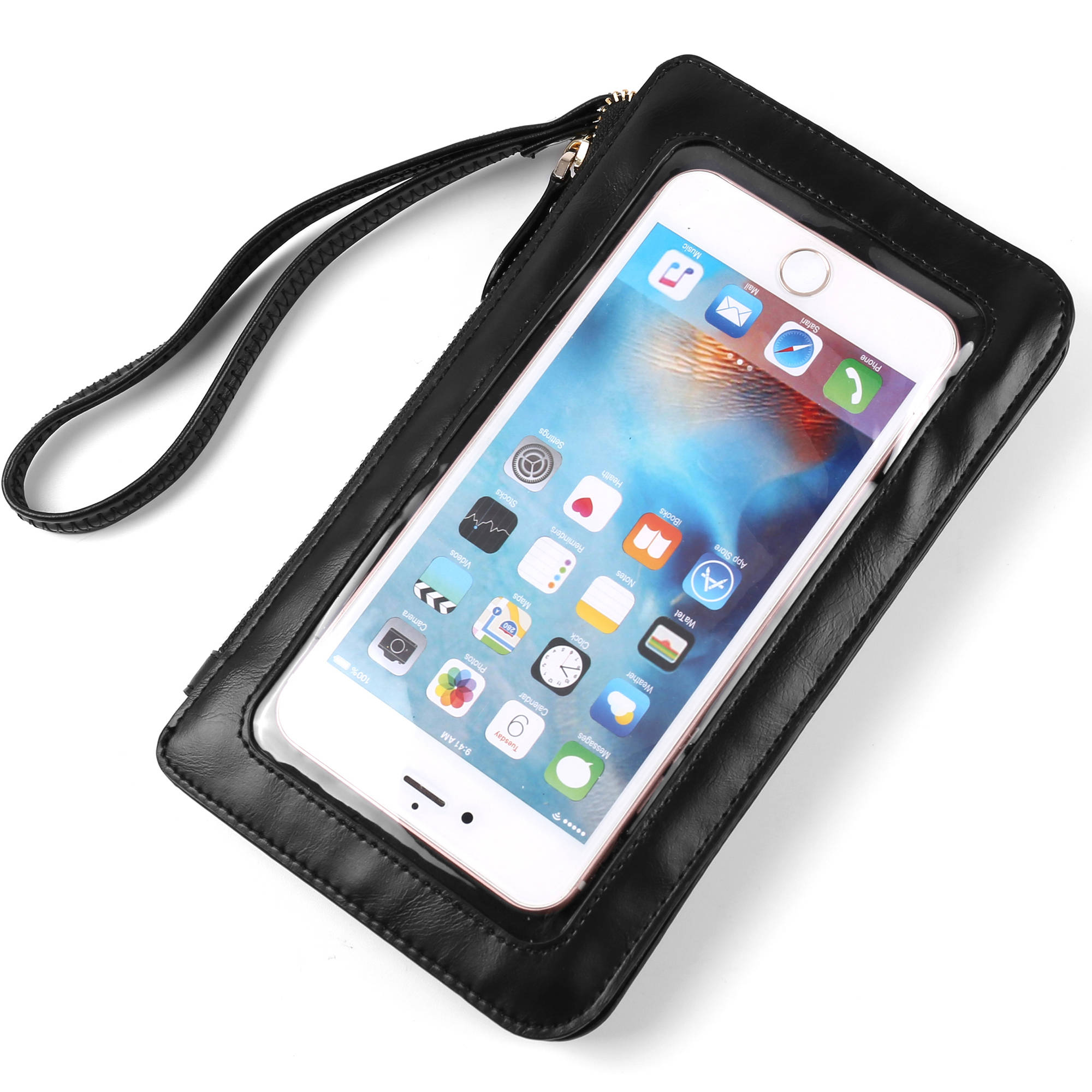 Universal Clear Touch Display Crossbody Pouch Purse