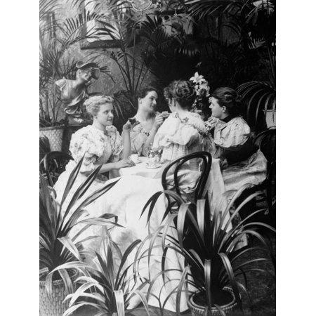 Victorian Ladies at Tea Luncheon Print Wall Art ()