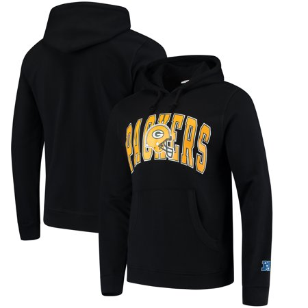 new style 44734 aa37a Green Bay Packers Mitchell & Ness Play Clock Pullover Hoodie - Black