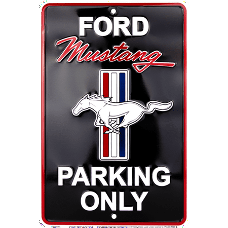 Ford Mustang Parking sign Black