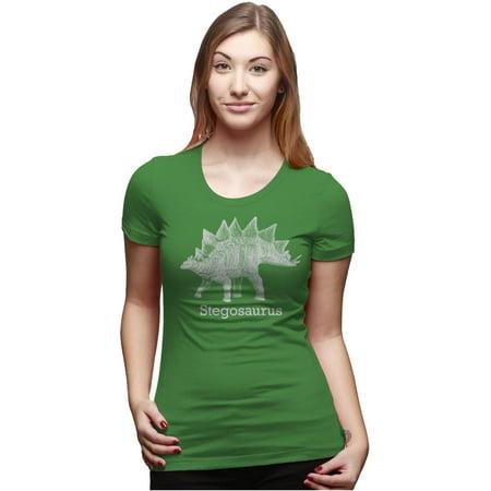 Le Top Dinosaur (Women's Stegosaurus Graphic T-Shirt Vintage Dinosaur Shirt for)