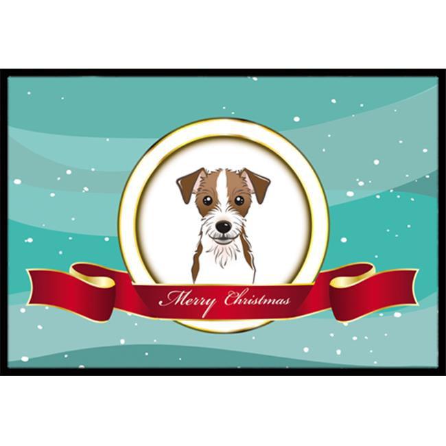 Carolines Treasures BB1512MAT Jack Russell Terrier Merry Christmas Indoor & Outdoor Mat, 18 x 27 in. - image 1 de 1