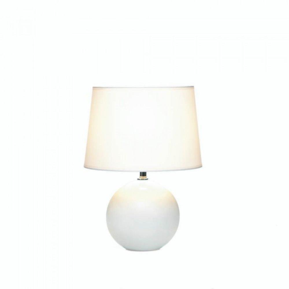 White Round Base Table Lamp