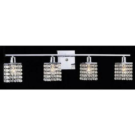 (Otis Designs 4-light Chrome/ Crystal Wall Sconce)