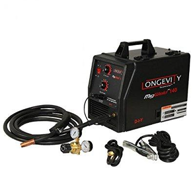 LONGEVITY Migweld 140 - 140 Amp Mig Welder Capable Of Flux-Core And Aluminum Gas Shielded Welding 110v
