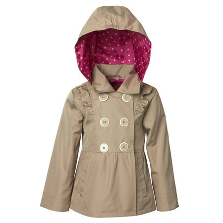 (Baby Toddler Girl Ruffle Trench Jacket)