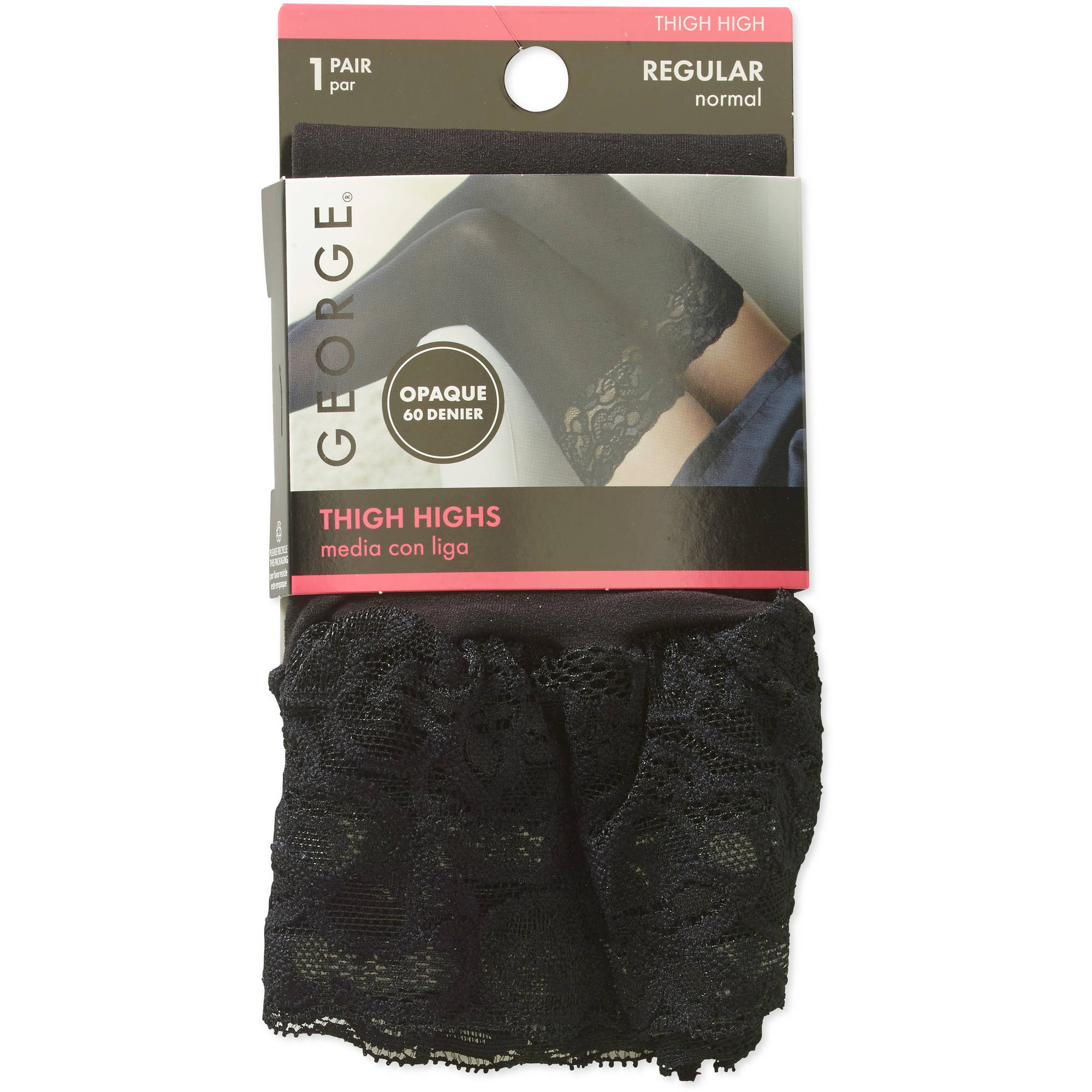 Lace Top Thigh High,2 Pack