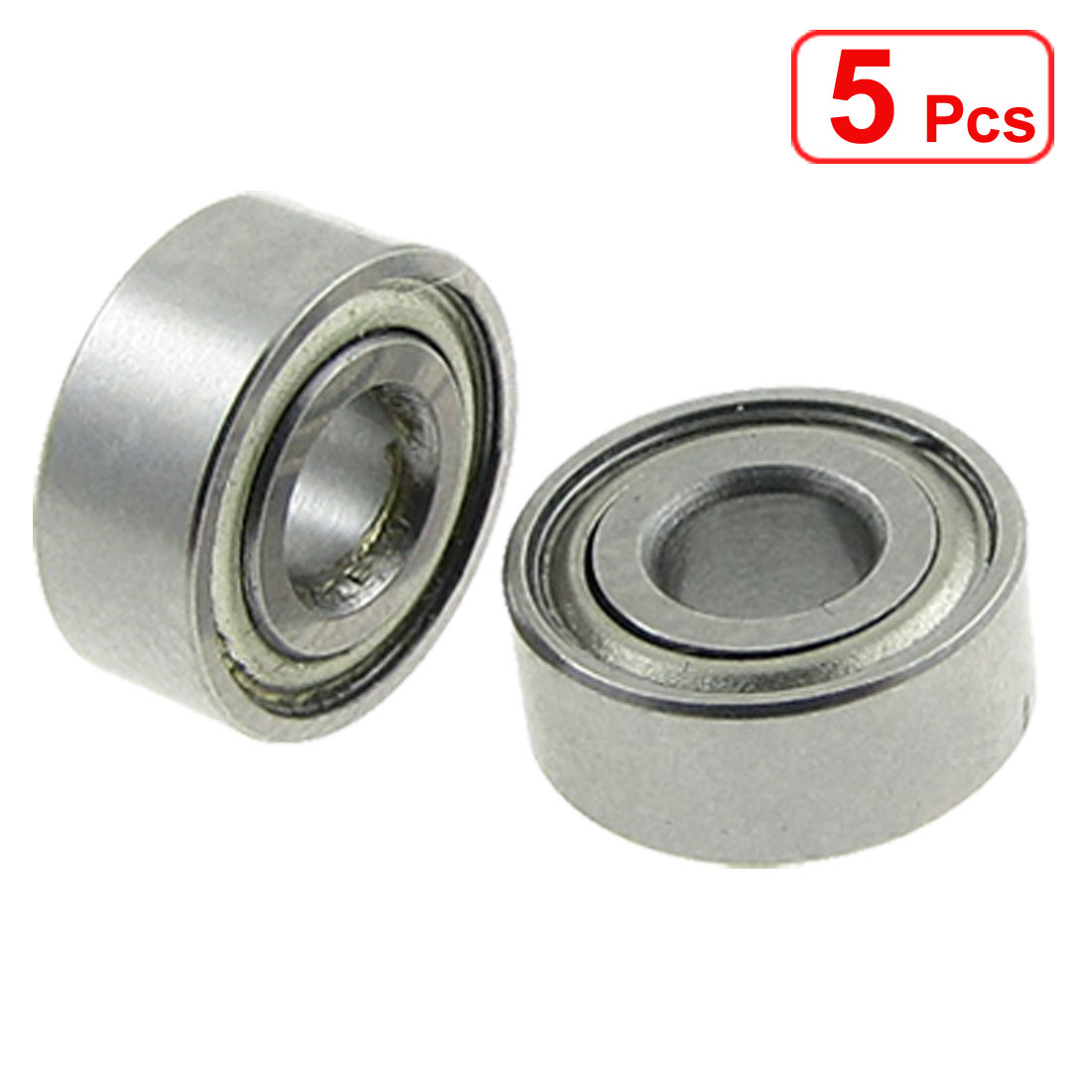 Unique Bargains 5 Pcs 4 x 10 x 4mm Double Shielded Deep Groove Ball Bearings - image 1 de 1