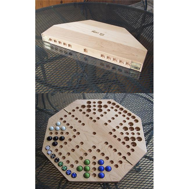 Charlies Woodshop W-1940-FOLD Wooden Marble Game Board - Hard Maple