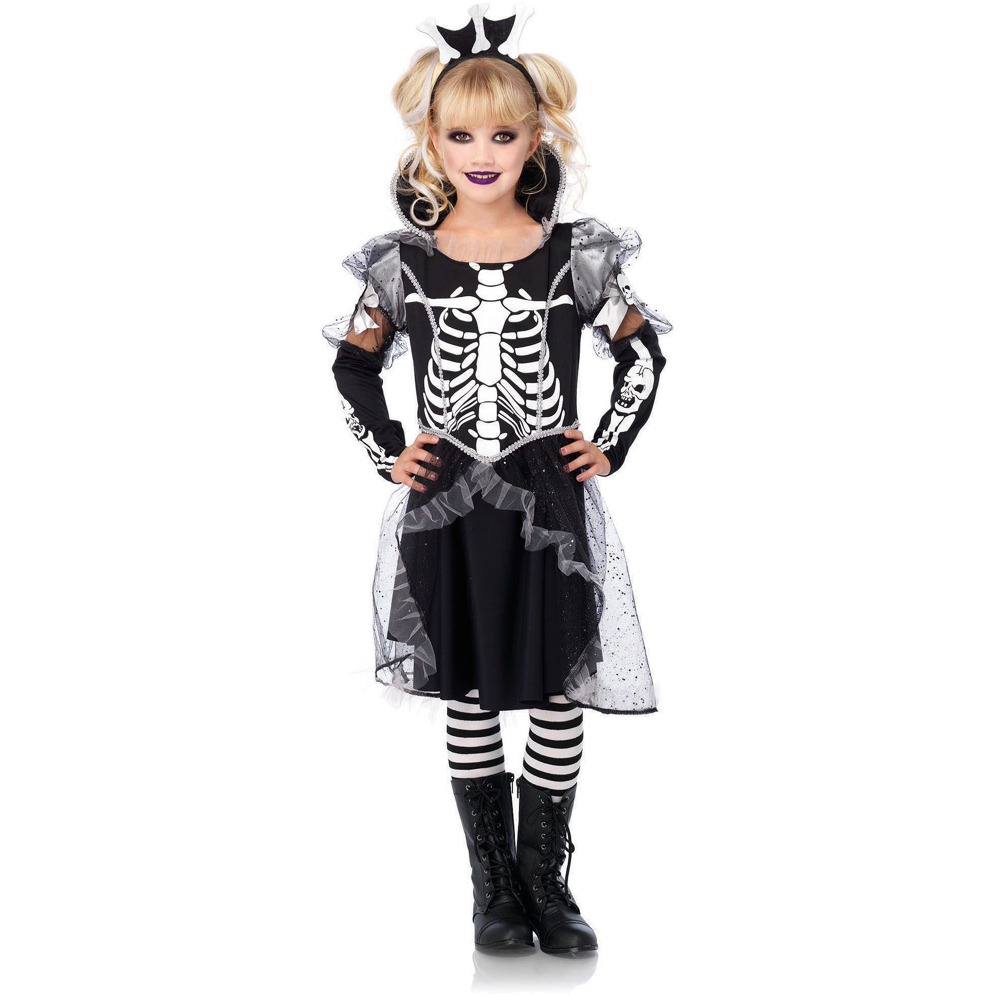 Leg Avenue Skeleton Princess Child Halloween Costume, Size M