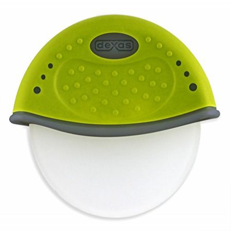 Dexas One Handed Rolling Pizza Cutter, Green