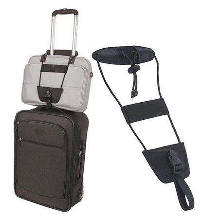 Amerteer 1 Pack Bag Bungee,Luggage Bungee Strap Add a Bag, Z&L Adjustable Travel Suitcase Belt Travel Accessories