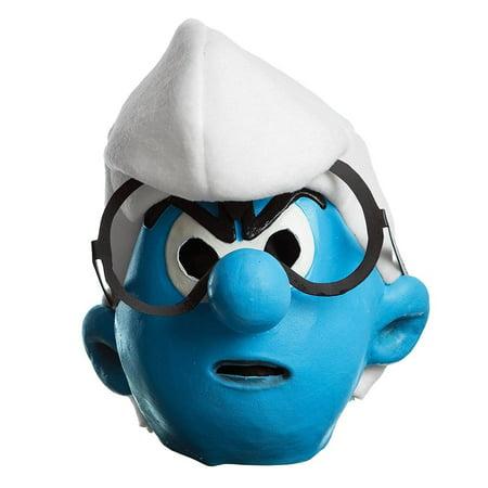 Child's Boys Smurfs The Lost Village Brainy Mask Costume Accessory
