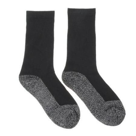 ZEDWELL Winter Keep Warm 36 Aluminized Fiber Heat Solid Color Women Men Winter Socks Long Tube Cotton Stocking - Stocking Stuffers Men