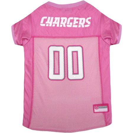 Pets First NFL San Diego Chargers Pet Pink Jersey, 4 Sizes Available