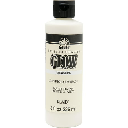 FolkArt Glow Neutral Paint, 1 Each, 8 Fl. Oz. - Glow In The Dark Body Paint