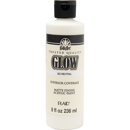 FolkArt Glow Neutral Paint, 1 Each, 8 Fl. Oz. - Does Uv Paint Glow In The Dark