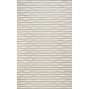 Nuloom VIHA01A-508 Handwoven Triangles Rug, Ivory - 5 ft.  x 8 ft.