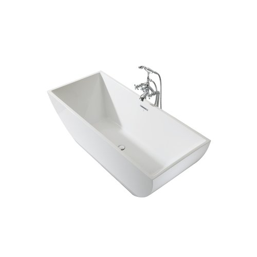 Ariel Bath Chelsea Platinum 67u0027u0027 X 30u0027u0027 Freestanding Soaking Bathtub