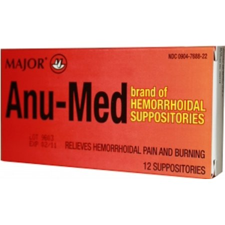 Anu-Med - Hemorrhoid Relief - Suppository - 12 per