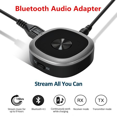 Bluetooth 4.1 Transmitter And Receiver, 3.5mm Wireless Audio Adapter with APT-X Low Latency And Multi-Point Access for TV / Home Sound System - image 4 de 8