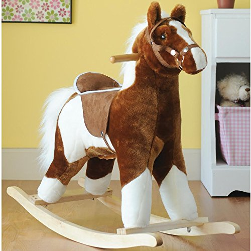 Charm Company 82313  New Pinto Horse w brown Saddle