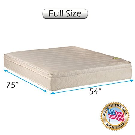Comfort Pedic Extra Firm Pillow Top  Eurotop  Mattress Only  Full Size 54  X75  X11    Sleep System With Enhance Support  Fully Assembled  Plush Knit Cover  Great For Your Back   By Dream Solutions Usa