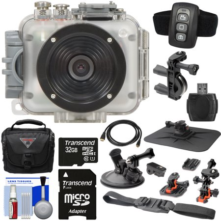 Intova Camera (Intova Connex 1080p HD Waterproof Video Action Camera Camcorder (200 ft/ 60m) with Remote + Action Mounts + 32GB Card + Case + HDMI Cable + Reader + Kit )