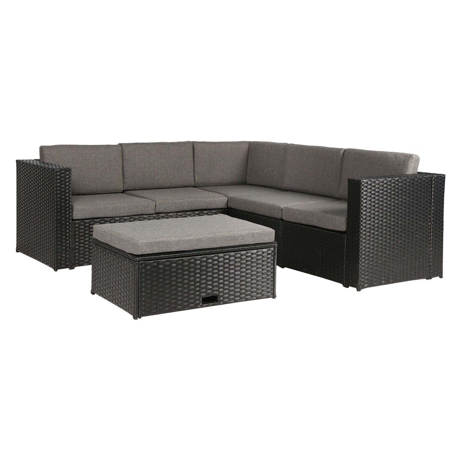 Lux Furniture Wicker 4 Piece Patio Conversation Set With