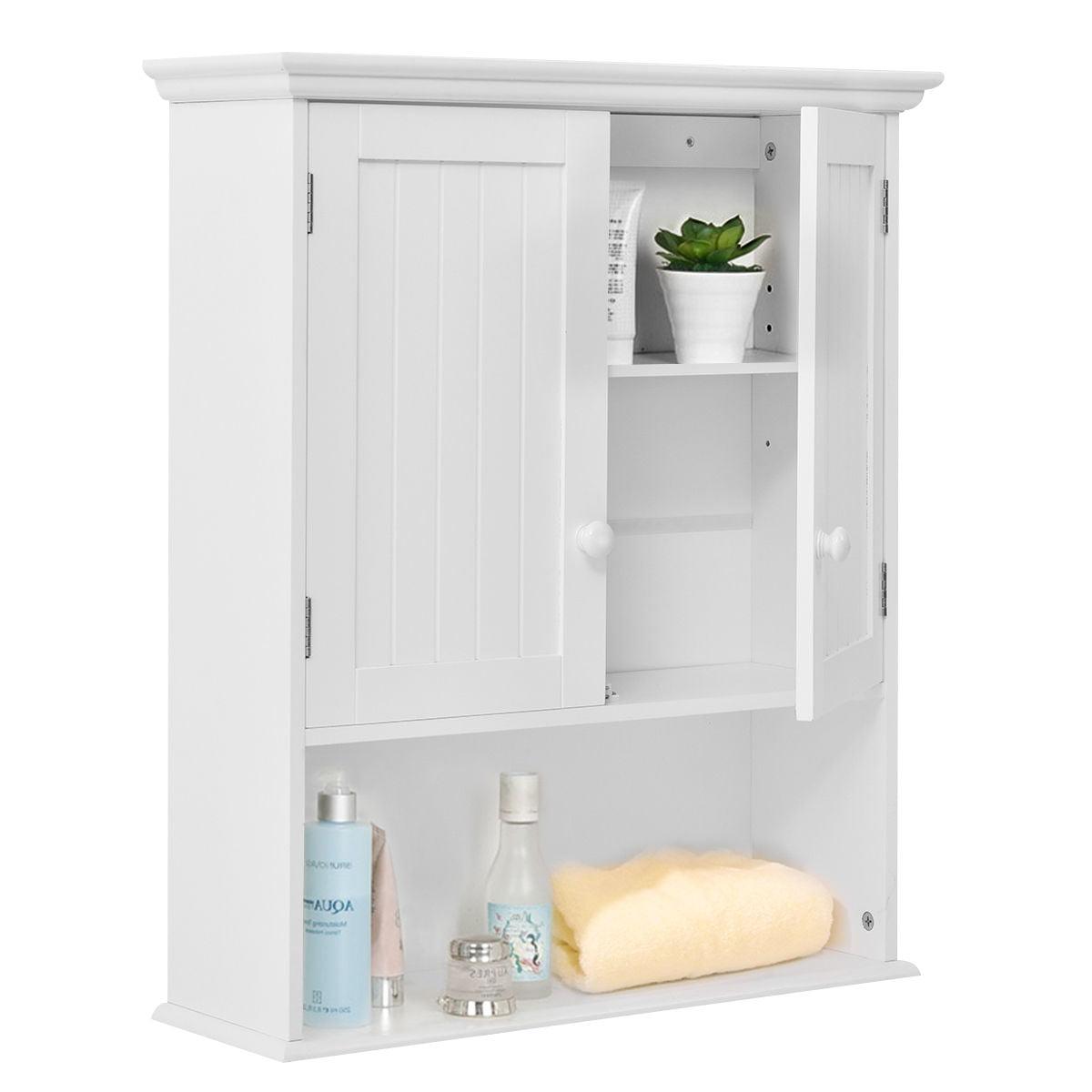 Costway Wall Mount Bathroom Cabinet Storage Organizer Medicine Cabinet Kitchen Laundry by Costway