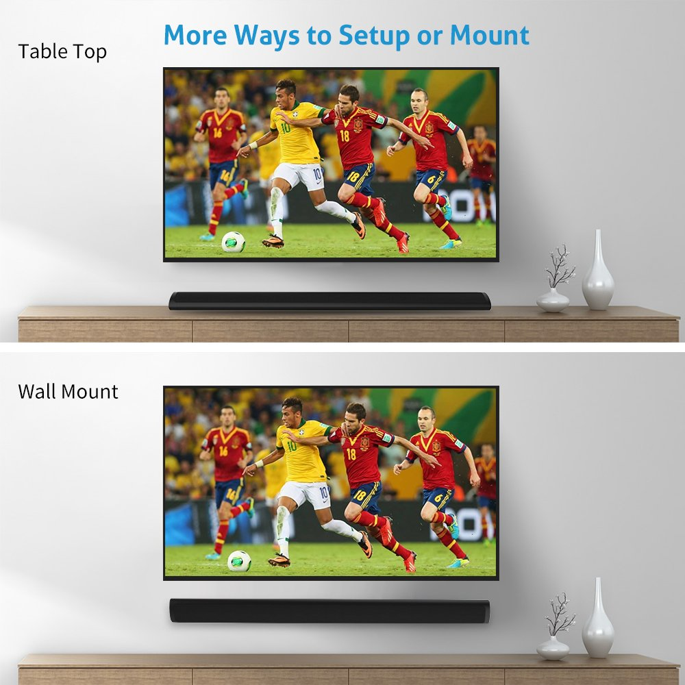 cowin Sound Bars for TV Meidong Soundbar with Bluetooth Wireless ...
