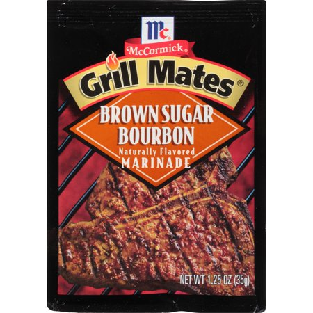 (4 Pack) McCormick Grill Mates Brown Sugar Bourbon Marinade, 1.25 Oz