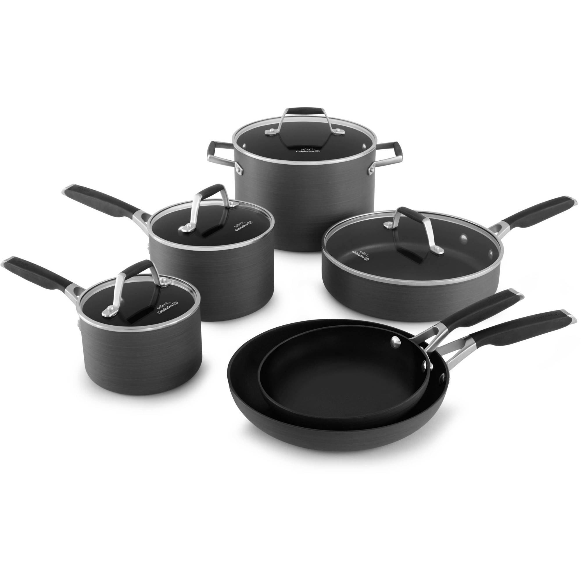 select by calphalon nonstick 10piece cookware set walmartcom - Calphalon Reviews