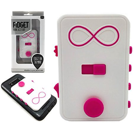Fidget on the Move Fidget Box Phone Accessory Features Finger Trace, Scroll, Slide, Light Switch, Joystick & Click Buttons - Compatible with Most Phones & Attaches to Case (Boxed Accessory Set)