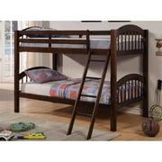 WHI 110-220TT Princeton T & T Bunk Bed, Espresso