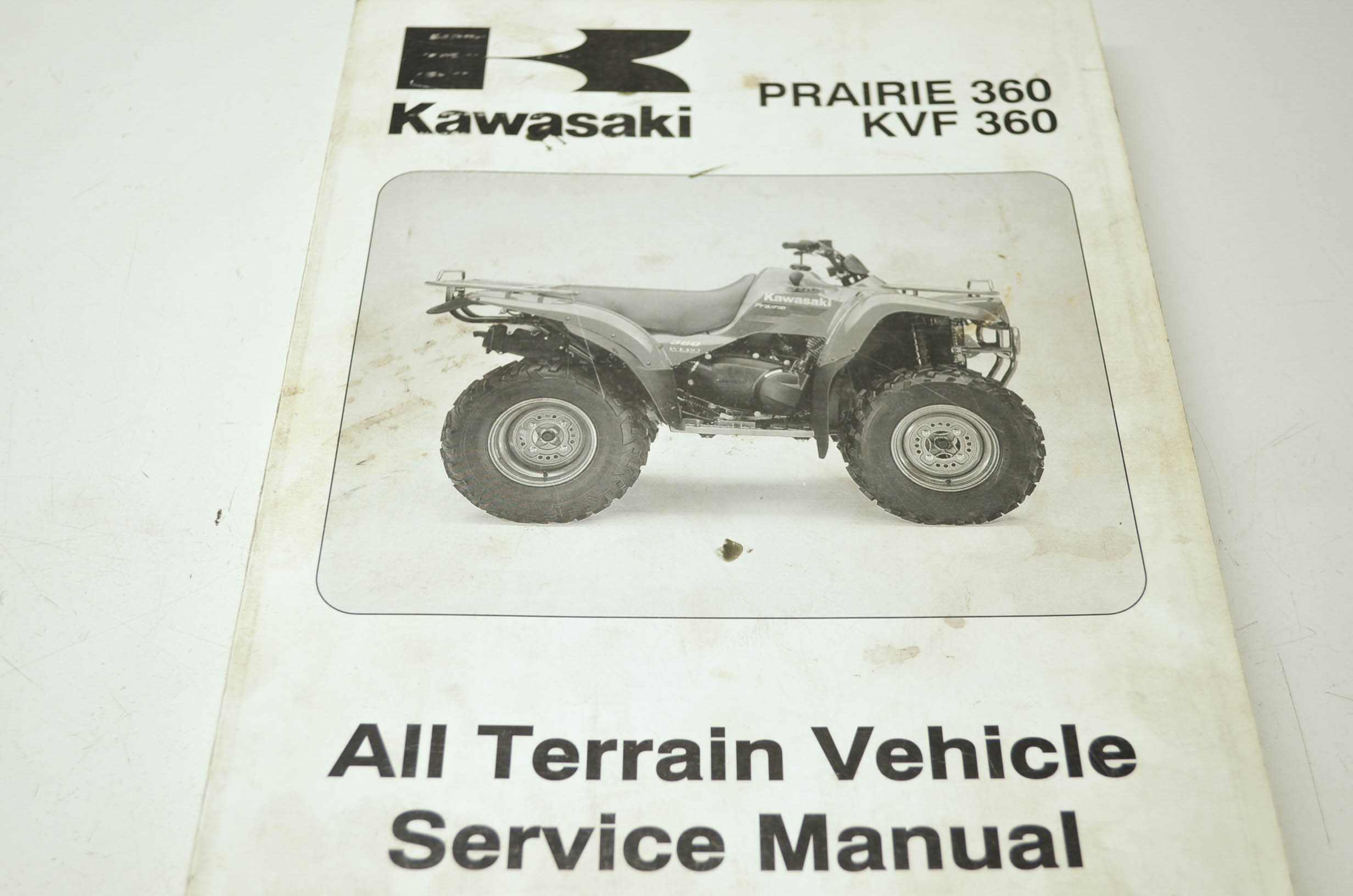 ... atv service manual oem Array - kawasaki 99924 1302 01 prairie 360 kvf  360 service manual qty 1 rh walmart