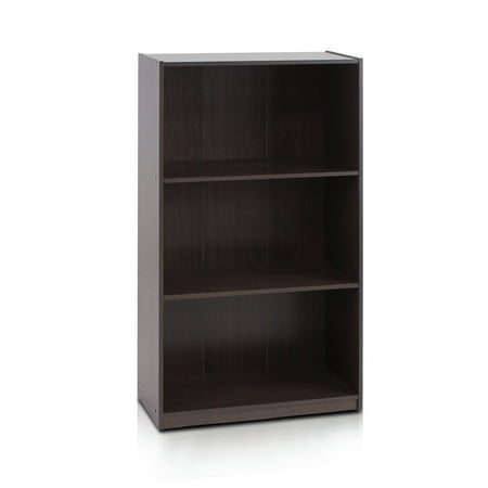 - Furinno Basic 3-Tier Bookcase Storage Shelves, Multiple Colors