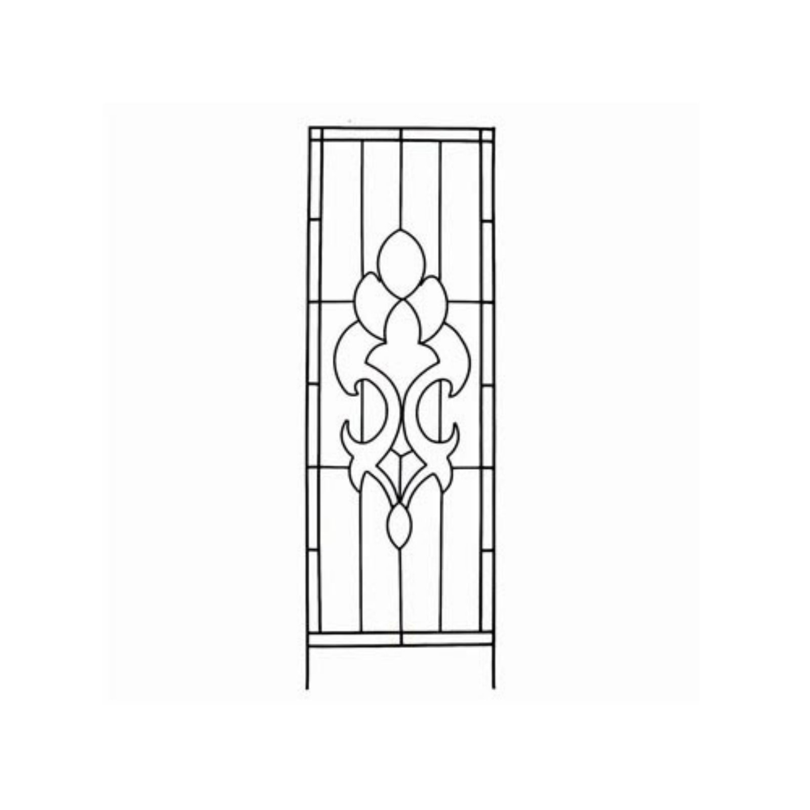 Austram-Griffith Creek Designs Newport Flower Trellis 24 x 72 in. Leather Black by Austram Inc