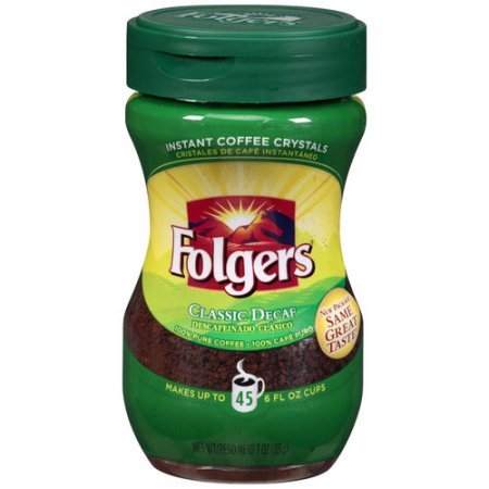 Folgers Classic Decaf Instant Coffee, 3 oz