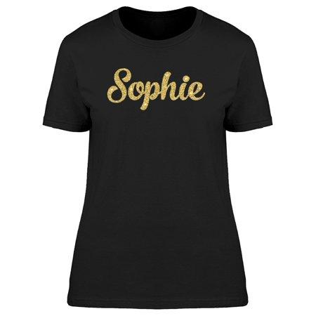 Sophie In Gold Glitter Tee Women s Image by Shutterstock
