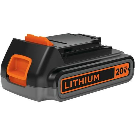 Lithium Battery Pack >> Black Decker 20 Volt Max 2 0 Ah Lithium Ion Battery Pack Lbxr2020