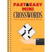 Fast & Easy Mini Crosswords : Tiny Crosswords for Quick Solving