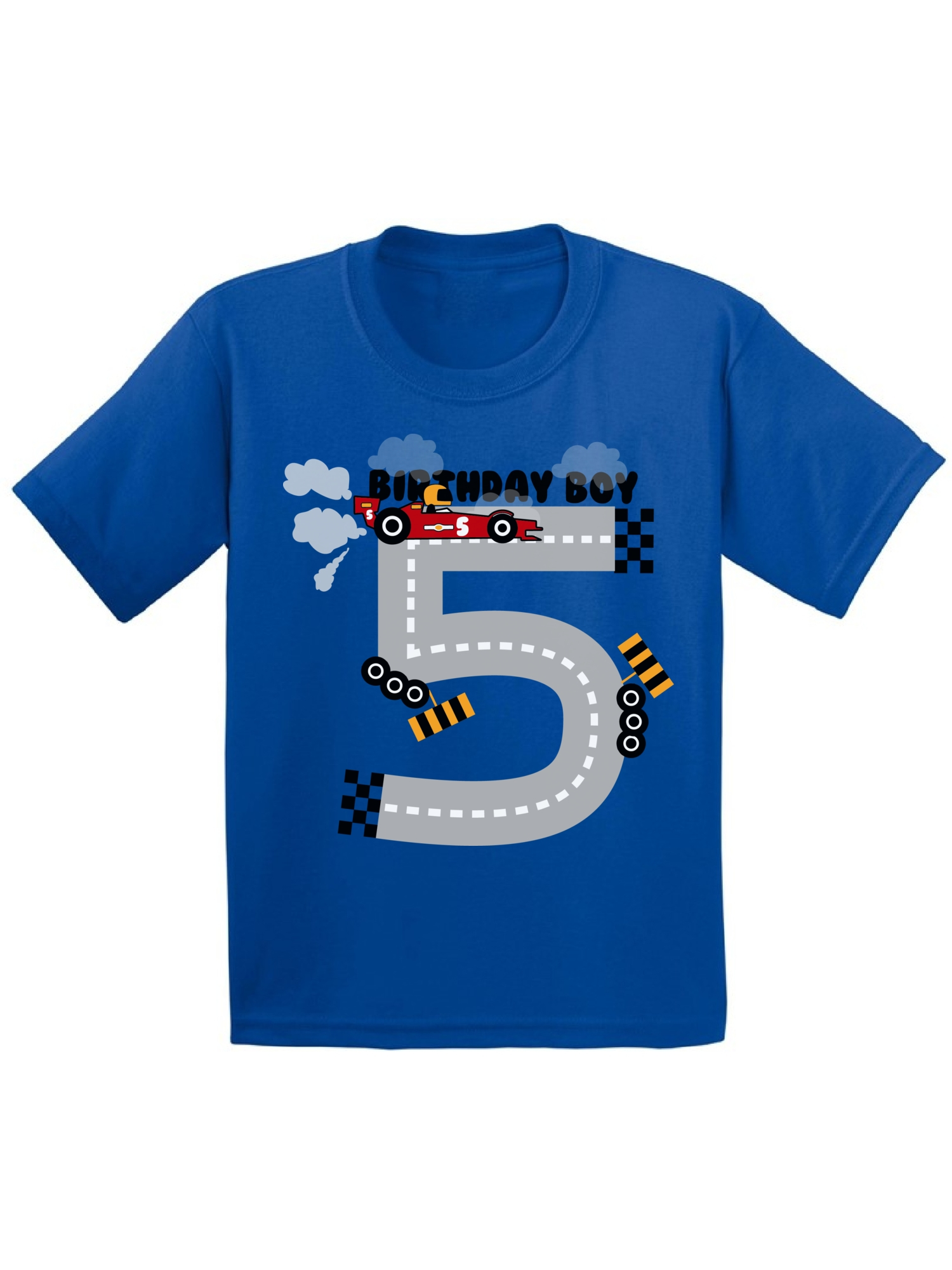 Awkward Styles Birthday Boy Race Car Toddler Shirt Party For Boys Funny Gifts 5 Year Old 5th T Fifth