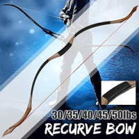 35-45lb Traditional Recurve Bow Bow Longbow Archery Outdoor Hunting + Arrows