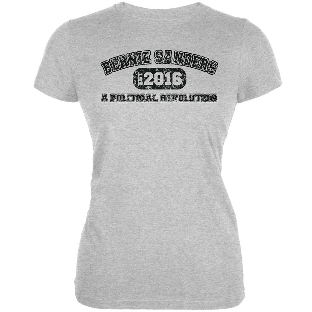 Bernie Sanders Revolution Univ 2016 Heather Grey Juniors Soft T-Shirt