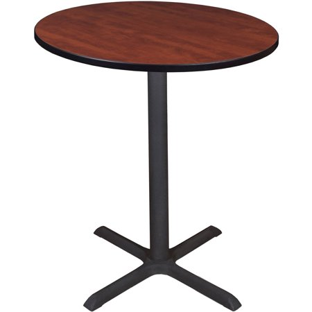 "Cain 36"" Round Cafe Table, Multiple Colors, Melamine Laminate Tabletop"