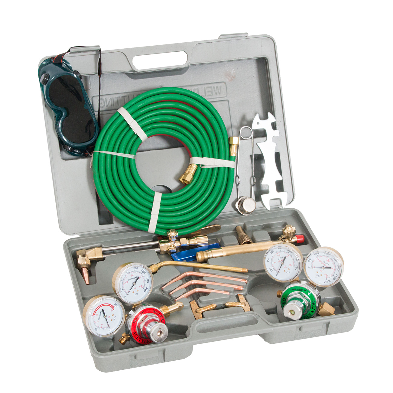 Arksen Harris-Type, Gas Welding & Cutting Torch Kit with Case, Professional Set