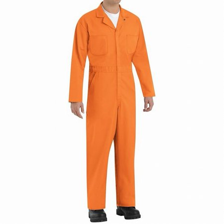 Red Coverall - Mens Multi-Pocket Twill Workwear Coveralls 46